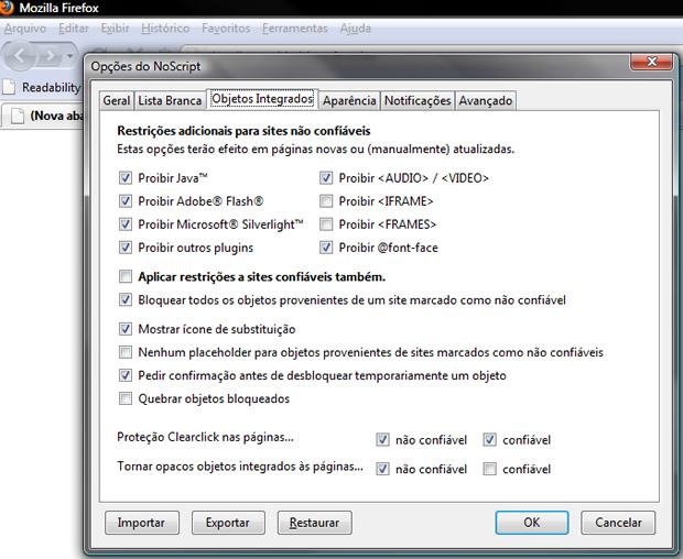 Plugins do Firefox permitem ataques diferenciados, mas também dão opções exclusivas de proteção.