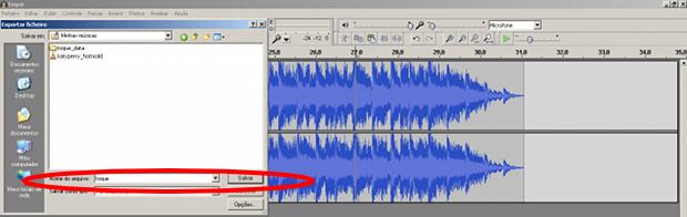 Exportando o arquivo editado, para o formato em MP3.