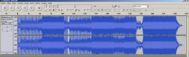 Tela principal com o arquivo de áudio carregado.