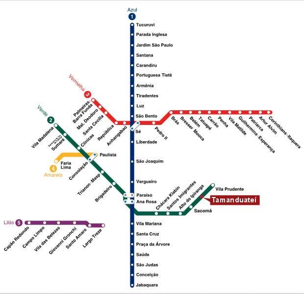 Estação Tamanduateí será inaugurada nesta terça-feira