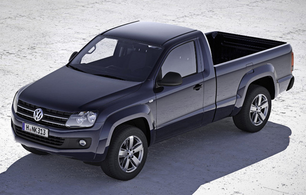 auto esporte volkswagen revela amarok com cabine simples. Black Bedroom Furniture Sets. Home Design Ideas