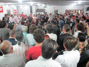 Ato realizado na sede do Sindicato dos Jornalistas de São Paulo