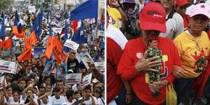 'Relâmpago da mudança' e 'turbilhão vermelho' se enfrentam na Venezuela (AP)