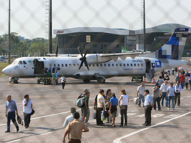 Avião da Trip retornou para Manaus