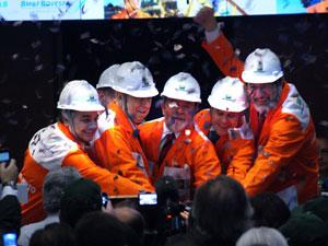 Cerimônia de capitalização da Petrobras na Bovespa