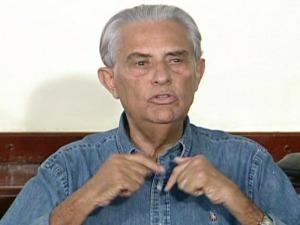Ex-governador do Distrito Federal, Joaquim Roriz (PSC), durante coletiva nesta sexta-feira (24). (Foto: G1/Reprodução)