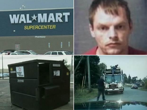 James Brienzo quase morreu ao se esconder em um contentor de lixo.