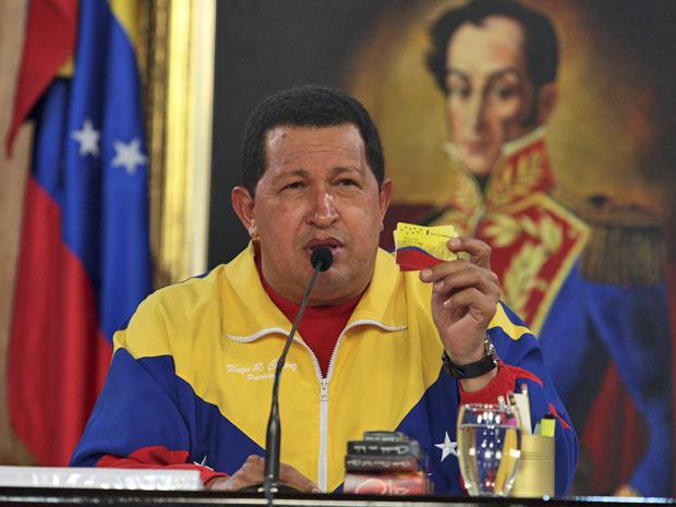 Chávez lançou o cartão do 'bem viver' neste sábado (24)