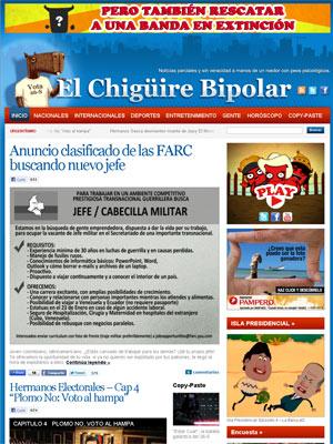 Capa do site 'Capivara bipolar'