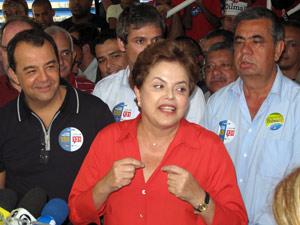 Dilma participou de evento de campanha ao lado de Cabral