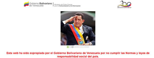 Reprodução da página oficial do 'Capivara bipolar', com a foto de Hugo Chávez