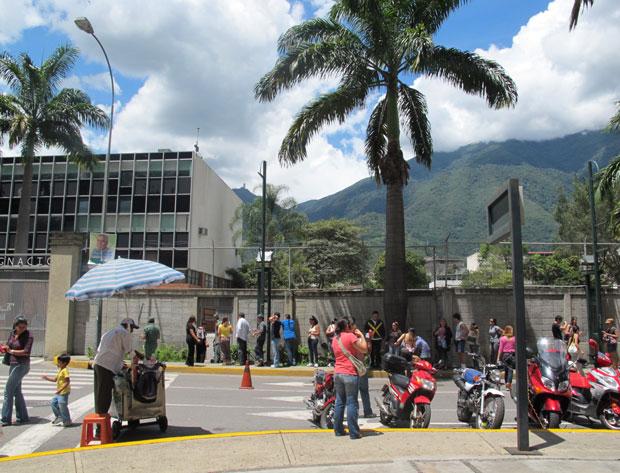Fila para votar na região de Altamira, de classe alta.