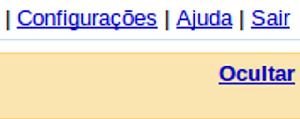 Configurações da conta do Gmail.