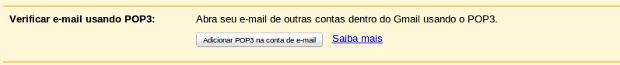Adicionando conta de e-mail.
