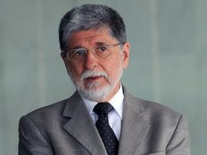 Ministro das Relações Exteriores, Celso Amorim, durante encontro no Itamaraty, em setembro. (Foto: Antonio Cruz / Agência Brasil)