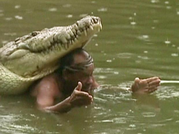 Chito e o crocodilo Pocho.