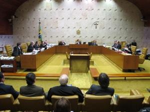 Ministros do Supremo Tribunal Federal (STF) reunidos em sessão plenária nesta quarta-feira (29).
