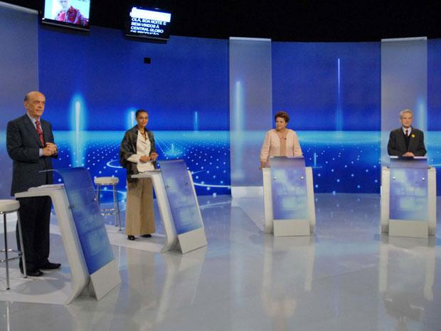 Candidatos à Presidência participam de debate da TV Globo nesta quinta (30)