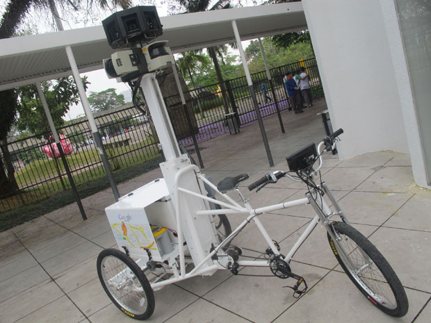 A biciceta Google Trike irá andar por ruas de difícil acesso e por dentro de parques e museus.
