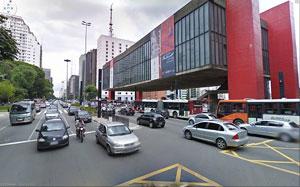 Avenida Paulista, na cidade de São Paulo, vista pelo Street View.
