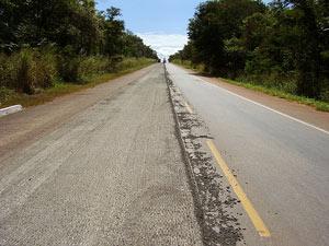 Trecho da rodovia federal BR-153, no Tocantins