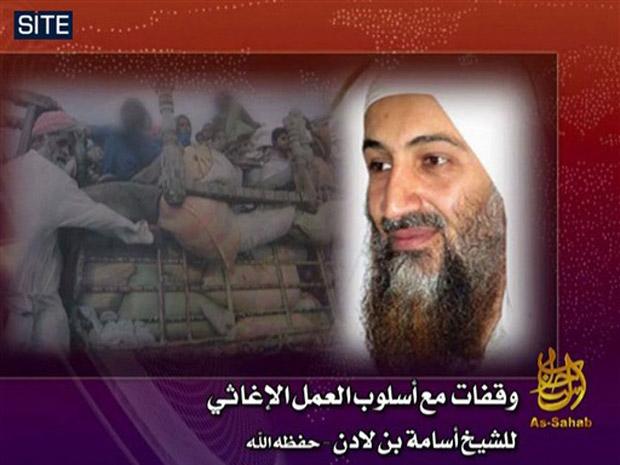 Imagem divulgada pelo grupo SITE mostra imagem de vídeo atribuído a Osama bin Laden.