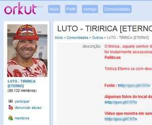 """Comunidade informa assassinato de Tiririca por """"inimigos políticos"""" para atrair vítimas."""