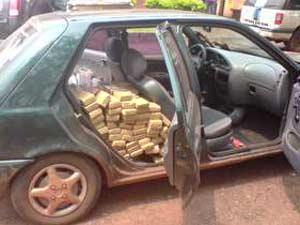 Droga apreendida durante fiscalização em rodovia