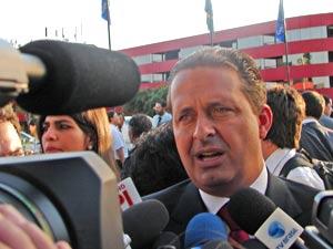 O governador reeleito de Pernambuco, Eduardo Campos (PSB), em Brasília