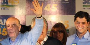 'Vamos à luta e à vitória', diz Serra