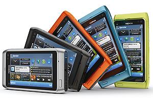 Nokia N8 está disponível em várias cores.