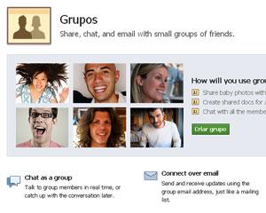 Grupos de amigos no Facebook