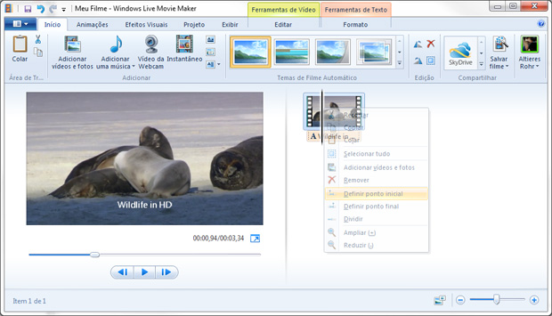 Windows Live Movie Maker é gratuito e parte integrante da suíte Live ou do Windows XP