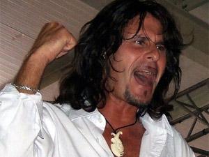 O vocalista Steve Lee, fundador da banda Gotthard, em foto de 2006