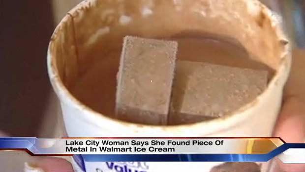 Metal tinha cinco centímetros de comprimento.