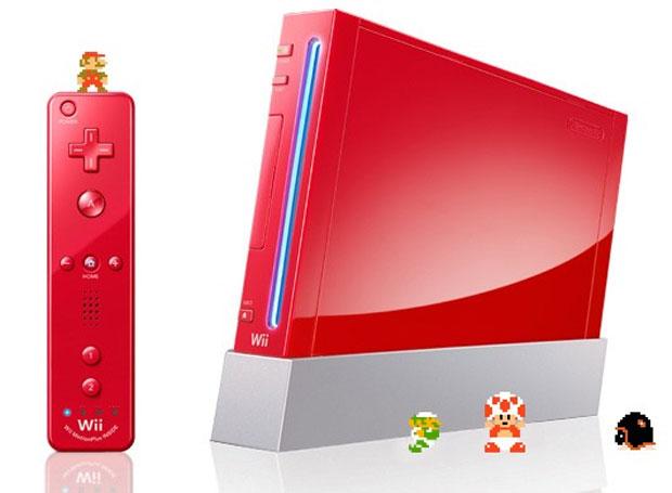 Wii vermelho mario 25 anos