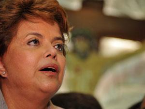 Dilma durante encontro com católicos na Capela de Nossa Senhora de Fátima, em Belo Horizonte