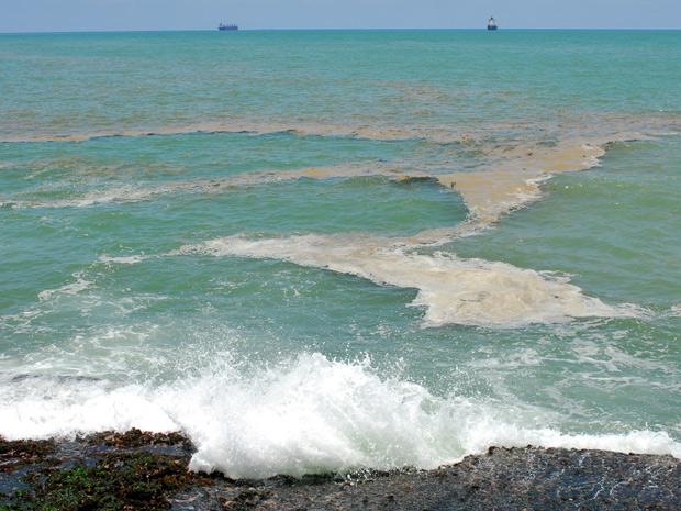 Capitania dos Portos analisa substância que surgiu em praias do Recife
