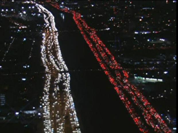 Tráfego lento na Marginal Tietê, em São Paulo