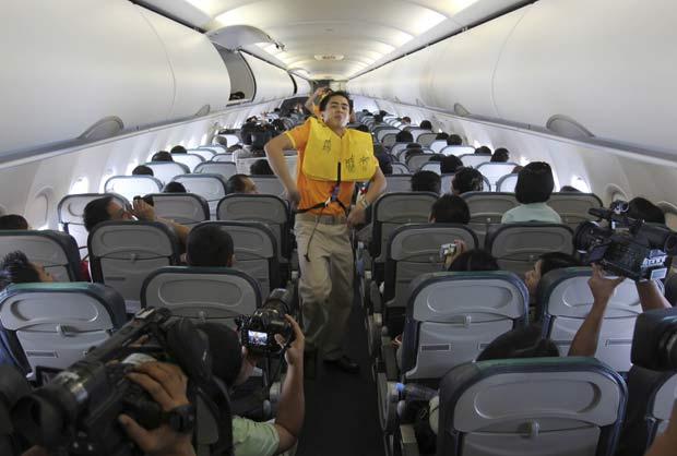 Dancinha foi realizada durante um voo entre Manila e Davao.