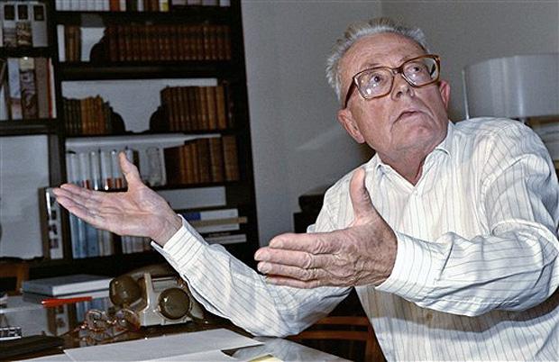 Maurice Allais em 18 de outubro de 1998, ano em que ganhou o prêmio Nobel de economia.