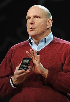 Presidente-executivo da Microsoft, Steve Balmer.