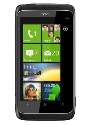 Aparelho da HTC com Windows Phone 7