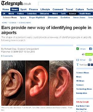 Formato das orelhas pode ajudar a identificar pessoas