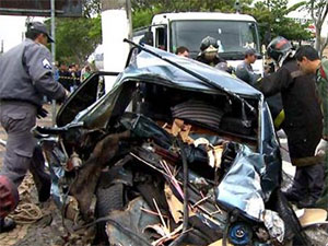 Carro destruído