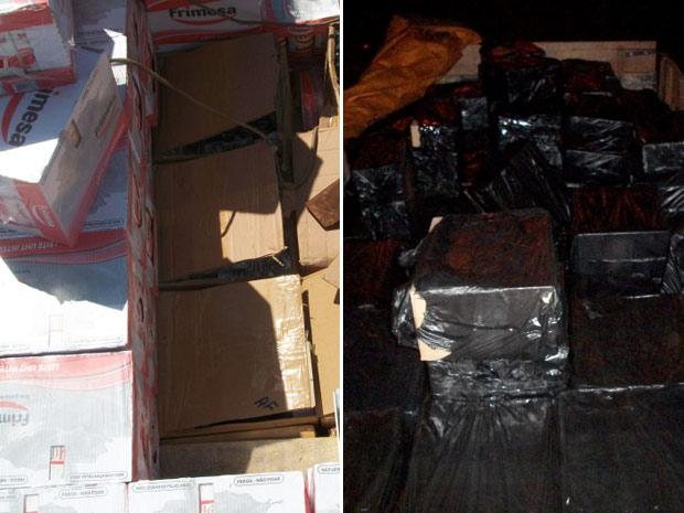 Cargas contrabandeadas de eletrônicos e cigarros foram apreendidas em duas operações da PF no Paraná