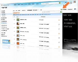 Página inicial do Windows Live Hotmail