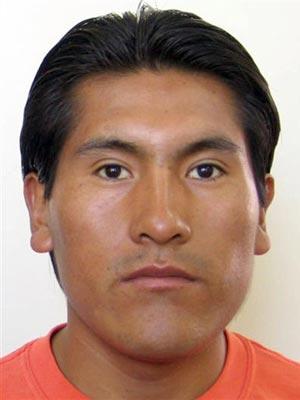 O mineiro boliviano Carlos Mamani.