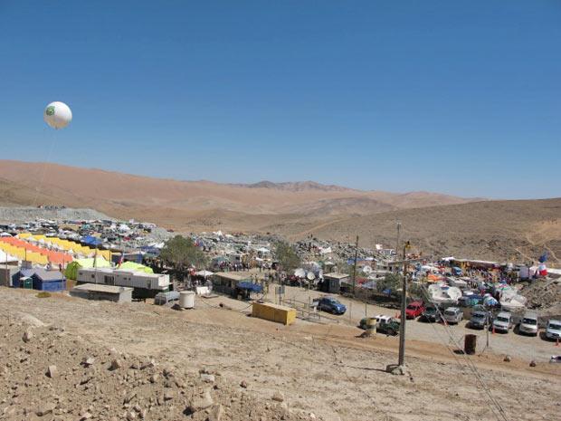 Vista do acampamento na tarde desta terça-feira (12).