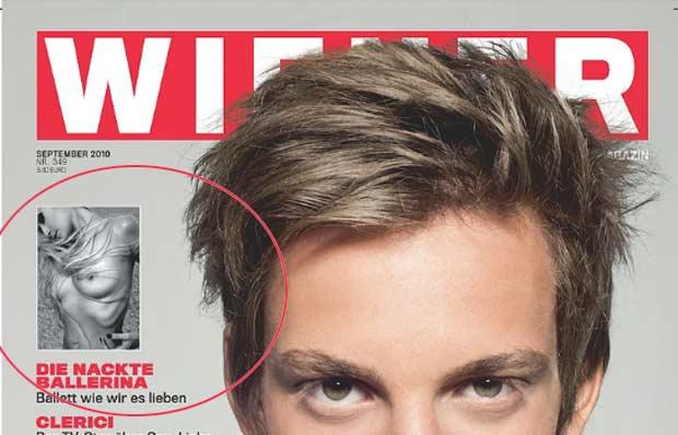 Ela aparece sem roupa na edição de setembro da revista 'Weiner'.